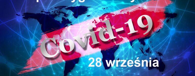 COVID-19 – RAPORT TYGODNIOWY – 28 WRZEŚNIA