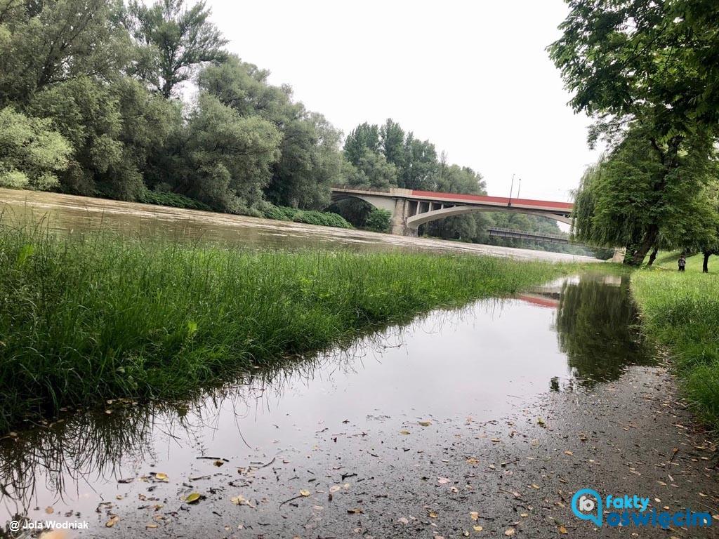 Prezydent Oświęcimia wprowadził w mieście stan pogotowia przeciwpowodziowego w mieście. Sytuacja może się w najbliższych dniach zmienić na gorszą.