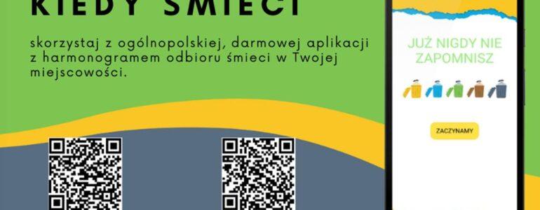 """Aplikacja """"Kiedy śmieci"""" w Oświęcimiu i Polance Wielkiej"""