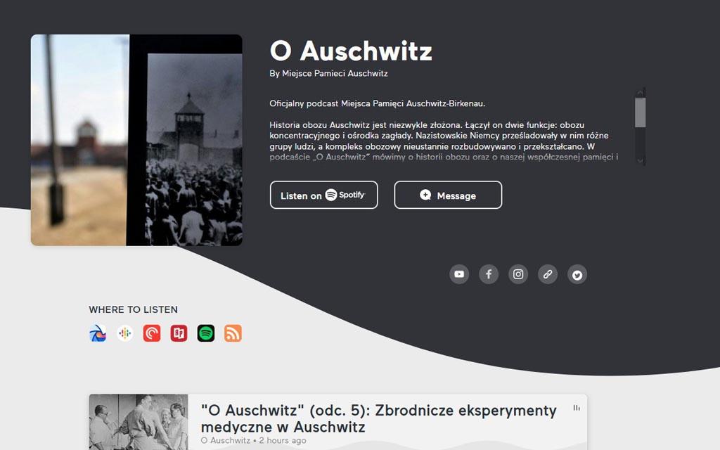 Muzeum Auschwitz przygotowało cykl podcastów, dotyczących historii obozu koncentracyjnego. Pierwsze odcinki już są dostępne na stronie internetowej.
