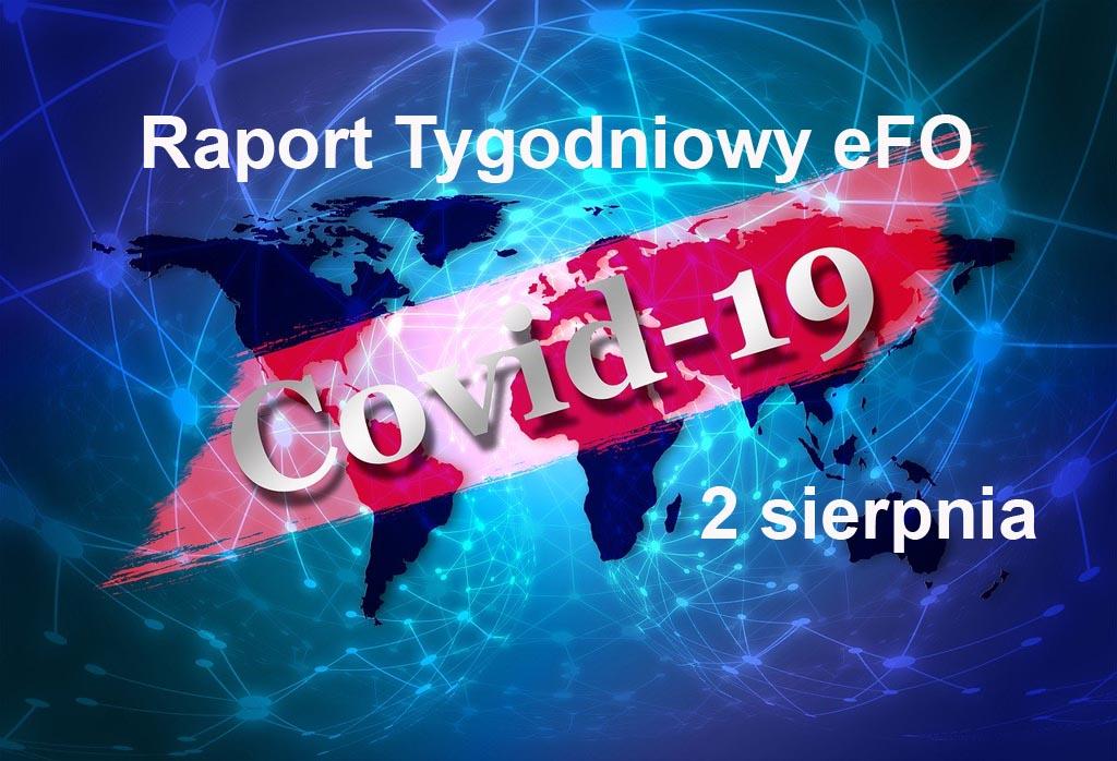 Od ostatniego Raportu Tygodniowego eFO w powiecie oświęcimskim przybyły dwa przypadki zachorowania na COVID-19. Nikt nie zmarł, było trzech ozdrowieńców.
