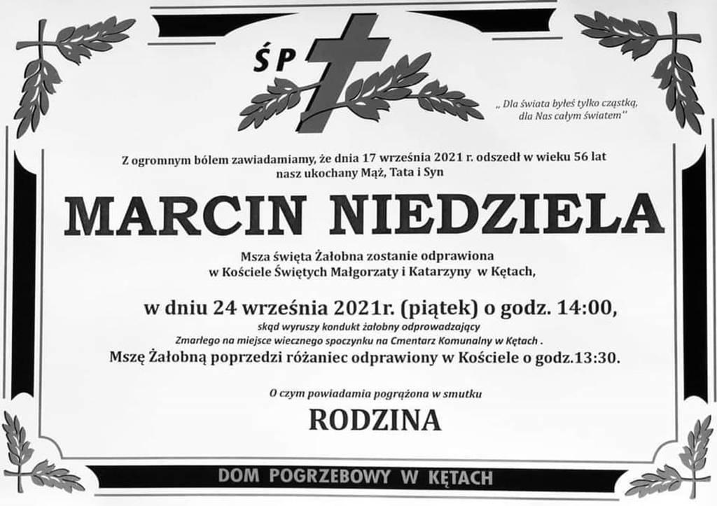 W piątek najbliżsi, krewni, znajomi, współpracownicy i mieszkańcy powiatu pożegnają Marcina Niedzielę, starostę oświęcimskiego.
